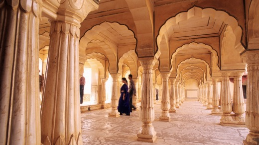 he hearing room in Amber Fort, Jaipur.