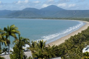 Four Mile Beach from Flagstaff Hill lookout, Port Douglas.