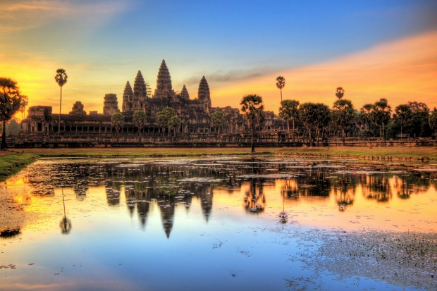 Dawn at Angkor Wat, Cambodia.