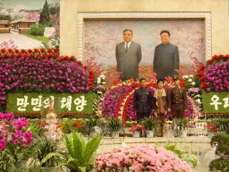 March, 2015. Pyongyang, North Korea. Pictured is the annual flower festival on the Taedong River in Pyongyang, ...
