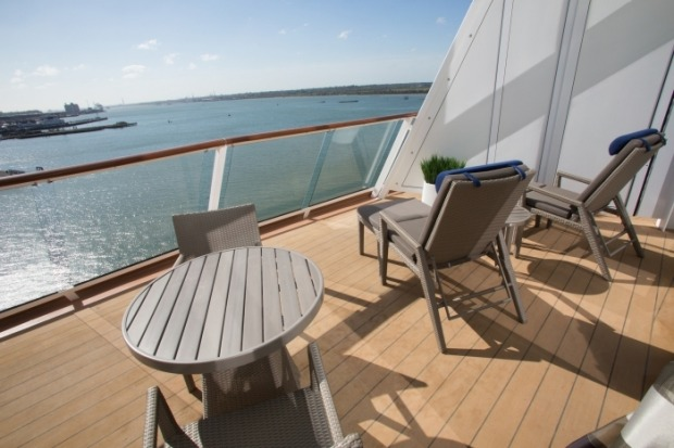 Anthem of the Seas' Royal Family Suite with balcony.