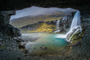 In Iceland there are so many grand waterfalls frequented by tourists and photographers. So it was a wonderful surprise ...