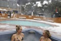 In the spa at the Thredbo Alpine Hotel.