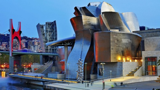 The Guggenheim Museum in Bilbao, Spain, is best known for its futuristic design by Frank Ghery.