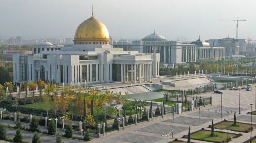 The presidential palace in Ashgabat, capital of Turkmenistan.