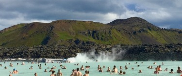 In July we visited the Blue Lagoon, a geothermal spa set amongst a breathtaking Icelandic landscape. This photo was ...
