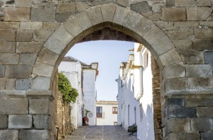 The historic town of Monsaraz, on the right margin of the Guadiana River in the Alentejo region.