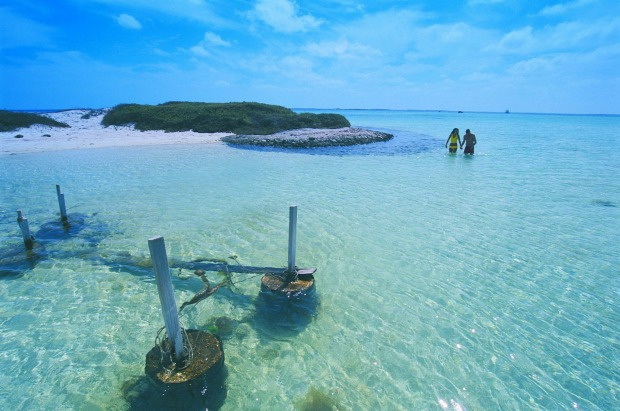 Houtman Abrolhos Islands: A chain of more than 120 islands some 80 kilometres off the coast of Geraldton in Western ...