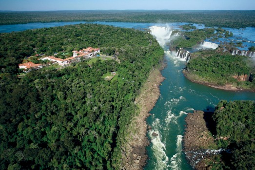 Hotel Das Cataratas. Is there a more spectacularly located hotel in the world?