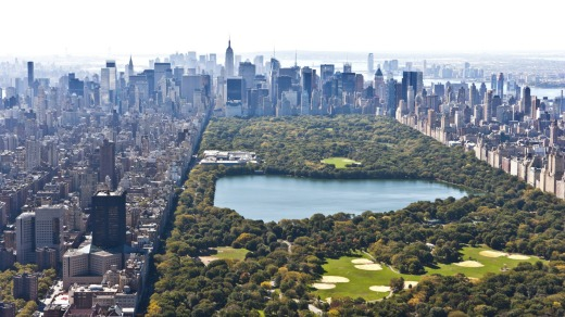 Manhattan and Central Park.