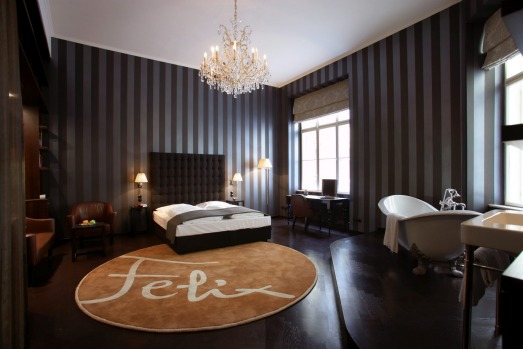 The Hotel Altstadt's Felix suite, design by Matteo Thun.