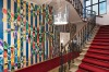 Hotel Altstadt's colourful lobby.