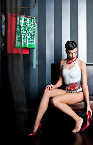 The Hotel Altstadt (and the Felix suite in particular) is a popular spot for fashion shoots, such as this swimsuit  ...