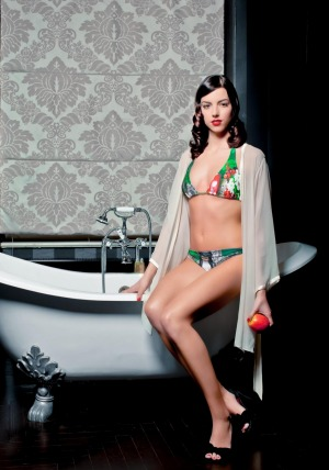 """The bathtub is positioned to put """"one's own body on show, a ritual of seduction set in scene""""."""