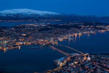 Tromso felt like the top edge of the world, and nowhere did this feel more true than on a mountain overlooking the town ...