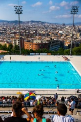 Montjuïc pool, set high above Barcelona, with one of the best swimming pool views in the world and site of the 1992 ...