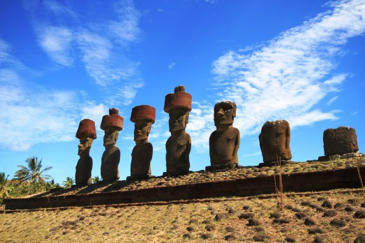 The tour takes in Easter Island's mysterious figures.