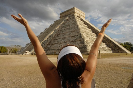 The tour also takes in the iconic Chichen Itza in Mexico.