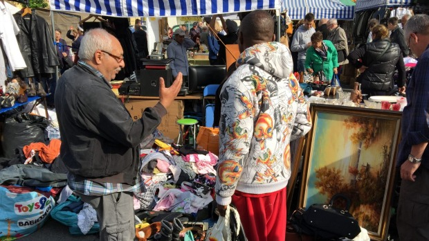Colour, characters and cheap artworks at the Vienna flea market.