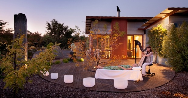SAMADHI RETREAT, DAYLESFORD, VICTORIA. It's all about you at this customised east-meets-west retreat fitted out with ...