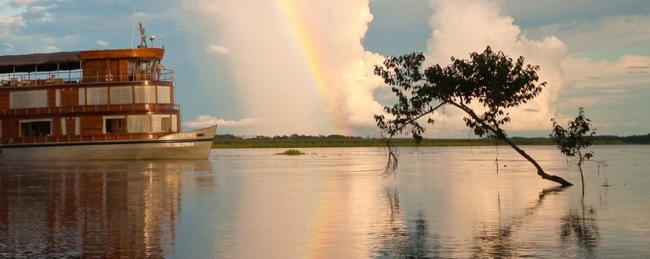 Cruising the Peruvian Amazon with AdventureSmith Explorations.