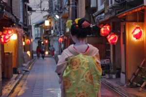 The streets in Gion are very atmospheric.