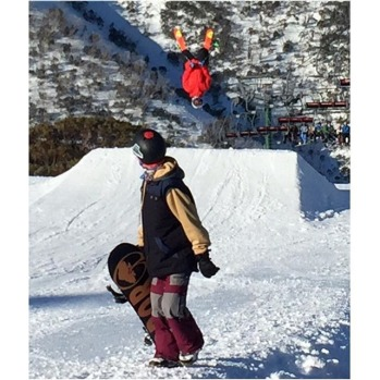 Flipping at Hotham