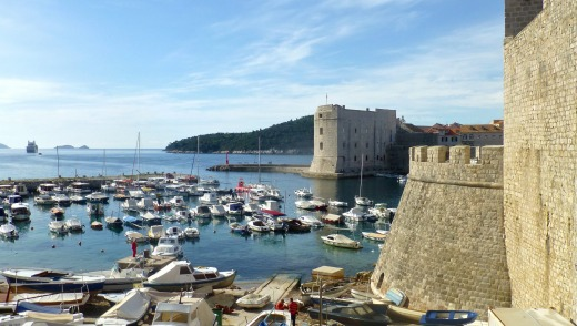 Dubrovnik's city walls.