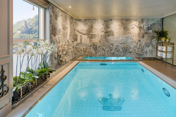 Take a dip in the indoor pool on the SS Maria Therese.