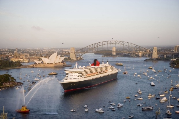 The Queen Mary 2 in Sydney.