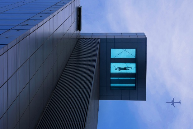 The long view down: It has become a favourite feature for high-rise hotels: the pool perched high up in the sky, giving ...