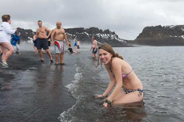 The polar plunge: If you are heading to Antarctica, don't forget your swimmers. Visitors to the icy continent ae ...