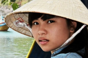 The fisherman's daughter.As we wandered through a fishing village off the coast of Nha Trang,Vietnam, she was standing ...