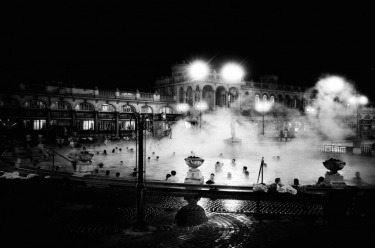 Captured on 35mm film, this image was taken in Budapest on my 21st birthday last December. My group of friends and I spent the afternoon at the Szechenyi Baths. The combination of the cold winter temperature and early setting of the sun created a very picturesque and relaxing setting to celebrate my birthday.