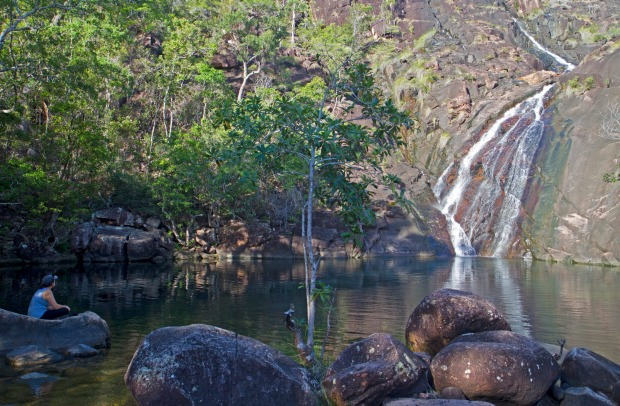 Zoe Falls, Queensland: On an island that's entirely national park, without a single resort or hotel, the only way to get ...