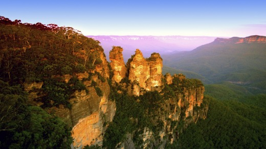 The Blue Mountains National Park.