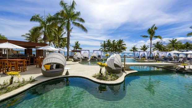 Guests can sun and spa themselves by day and dance to the DJ by night at Waitui Beach Club.