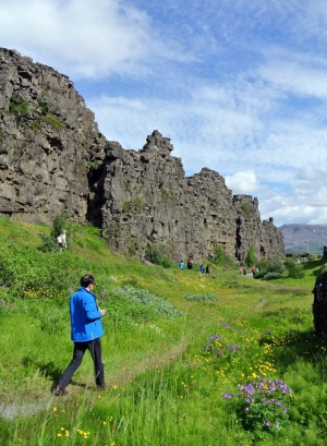 Thingvellir National Park nestles in a huge rift valley.