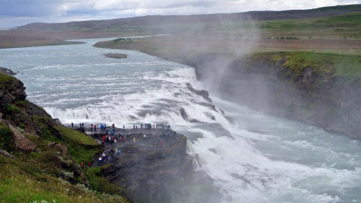 The waterfall at Gullfoss