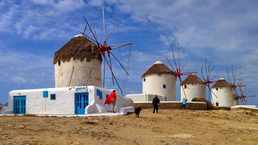 Mykonos' windmills are an iconic feature of the island.