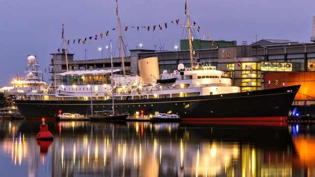 The Royal Yacht Britannia is now moored as a tourist attraction in Leith, Edinburgh.