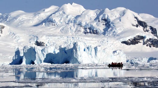 Cruising among the giant icebergs of Neko Harbour.