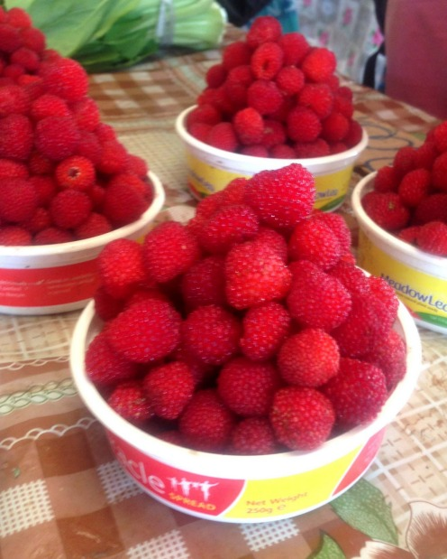 Wild raspberries at Port Vila Market.