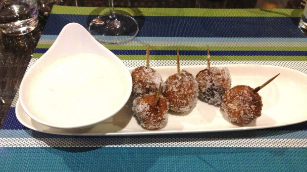 Donuts for dessert at Au Fare.