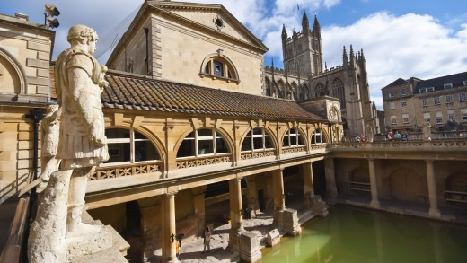 Bath's famed Roman baths were built over 2000 years ago.
