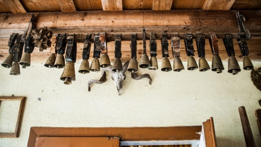 Decorative cowbells in Patru Godja Pupaza's workshop.