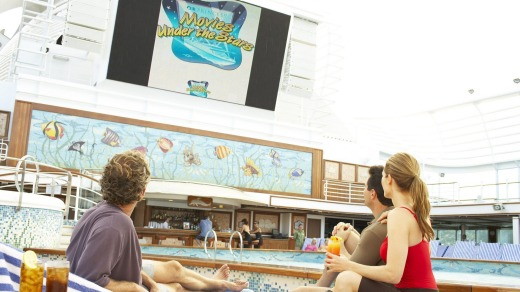 Princess Cruises has extensive facilities for young people, such as Movies Under the Stars.