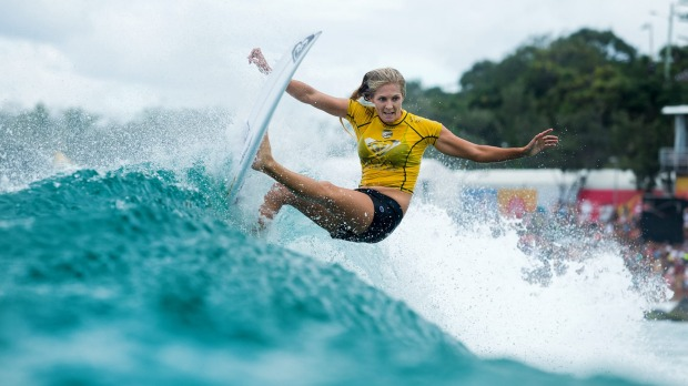 Surf like the stars: Stephanie Gilmore competes on the Gold Coast.