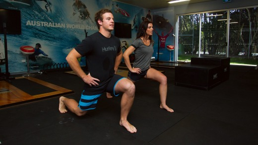 Surfers on longer surf camps can use the Hurley Surfing Australia High Performance Centre's gym and trainers.