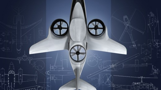 The TriFan 600 features three advanced ducted fans which propel its vertical lift.